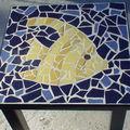Table au poisson : 1ère mosaïque !