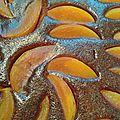 Tarte chocolat, pêches (version sans lactose)
