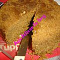 Gâteau praline noisettes cuisson au micro-ondes
