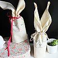 ▲▼ des pochons lapins de pâques ▲▼