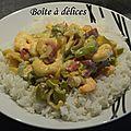 Crevettes au curry et aux poivrons