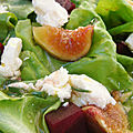 Salade figues betteraves feta