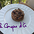 Risotto au radicchio,lardons et champignons
