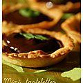 Mini tartelettes choco-menthe