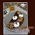 Crêpe cacao poires poêlées & chantilly