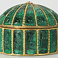 Emerald-set Box, <b>Mughal</b> <b>India</b> circa 1635