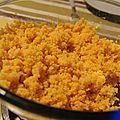 Semoule de couscous aux épices