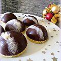 Dômes chocolat cœur meringue