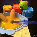 Baby food #5 : purée de brocolis/jambon et compote pommes/clémentine
