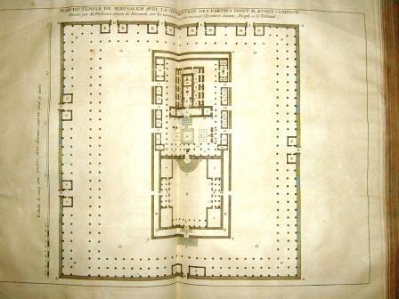 Don Calmet - Le temple d'après la description de Flavius Josèphe