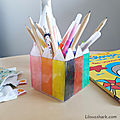 Pot à crayons en plastique <b>dingue</b> - TUTO/DIY