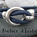 Chic et simple ce <b>bracelet</b> en cuir et son fermoir <b>crochet</b> habillera votre poignet avec sobriété ! Conçu pour une amie !