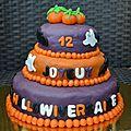 Gâteau pour un hallowiversaire - sponge cake chocolat & spéculoos