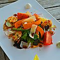 Tartelette de légumes craquants, tapenade et chèvre frais aux 2 saveurs