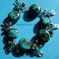 bracelet turquoise pendouilles elo vue 1