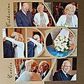 Superposition de pages mariage de mes beaux parents