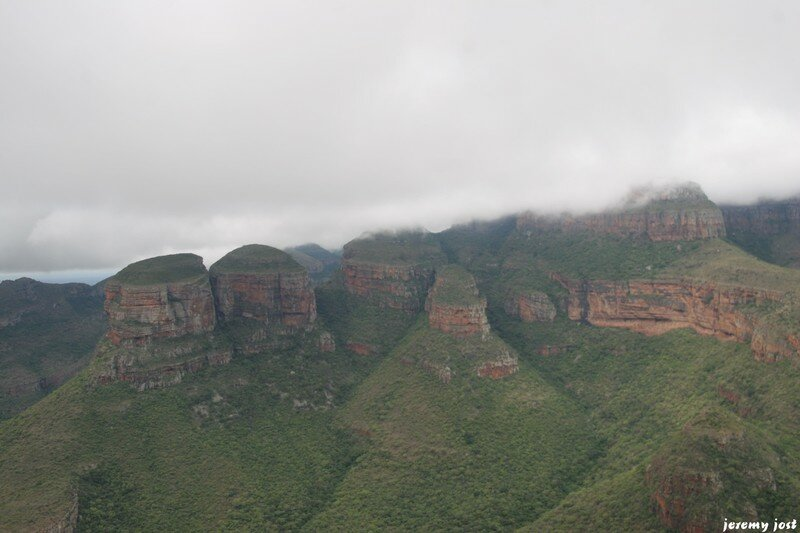 Three rondevels in blyde river canyon