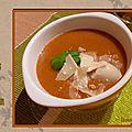 Soupe de tomates et parmesan