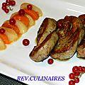 Foie gras et fruits d'été 1