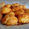 Gougères au fromage et jambon