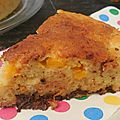 <b>Gâteau</b> <b>sans</b> <b>beurre</b> abricot-chocolat-noix