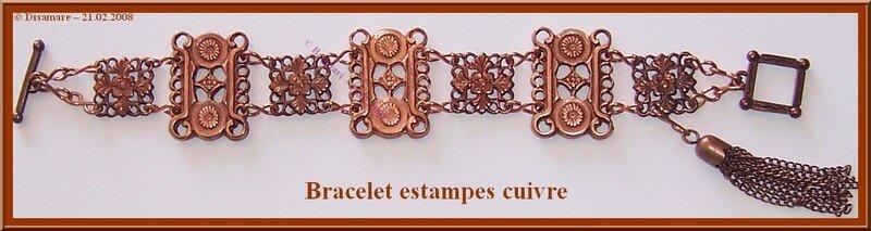 Bracelet estampes cuivre