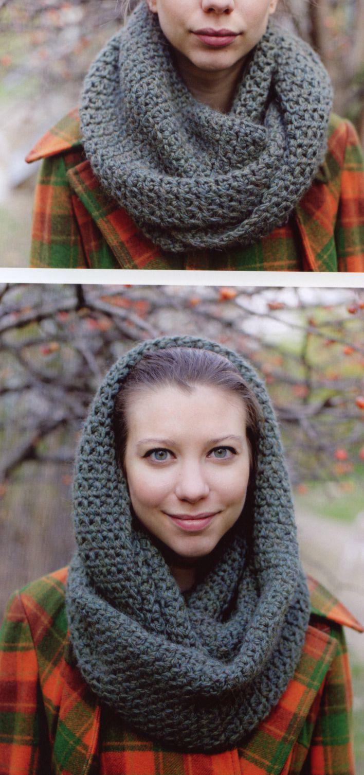 comment tricoter un snood a capuche