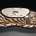 A Cizhou-type painted tiger-form pillow, Jin-Yuan Dynasty, <b>12th</b>-<b>13th</b> <b>century</b>