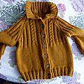 veste confortable avec col, en taille 6 ans