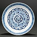 A blue and white '<b>Mantouxin</b>' <b>bowl</b>, Ming dynasty, Xuande period (1426-1435)
