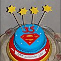 Gâteau superman trèsss gourmand