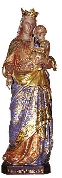 Carmaret sur Mer, chapelle ND de Rocamadour, statue de ND