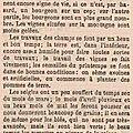 1880 début avril :les galipes des bas sont gelées, c'est