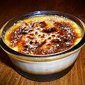Crème brulée au caramel