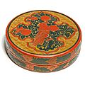 A three-colour lacquer box and cover, ming dynasty (1368-1644)