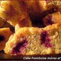 Cake framboise mûres et pavot