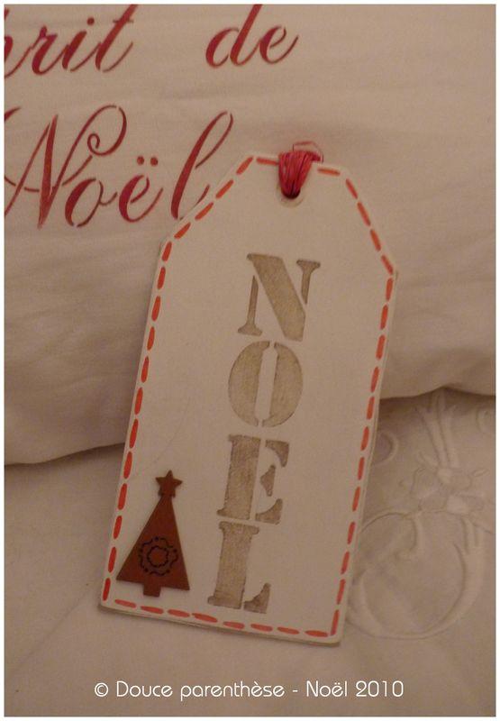 Pancarte cadeau Noël 2010