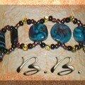 Bracelet truquoise & noir !