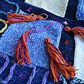 Tapis tapis bleu