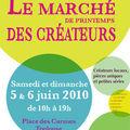 Le marché de printemps des créateurs le 5 et 6 juin!