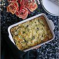 Clafoutis aux courgettes & mozzarella