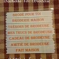 pochette 13 broderie