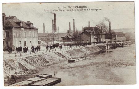 03 - MONTLUCON - Sortie des ouvriers des usines Saint Jacques