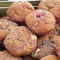 Muffins framboise - chocolat blanc