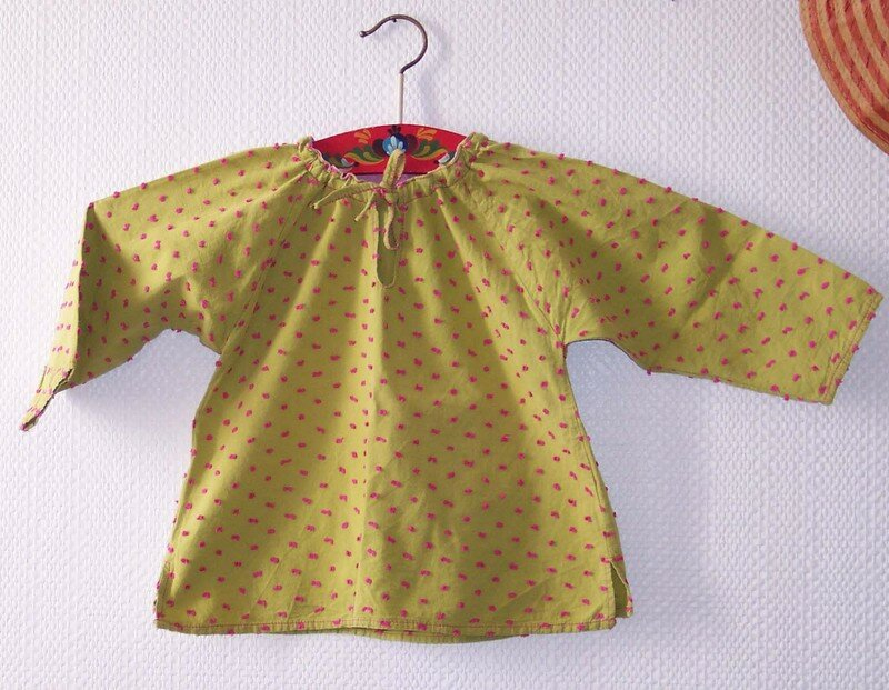 blouse plumetis