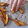 Accompagnement : pommes de terre épicées cuites au four
