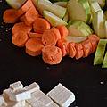 Soupe thai au lait de coco 1/2 bloc de tofu750 ml
