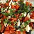 Salade aux couleurs de l'italie
