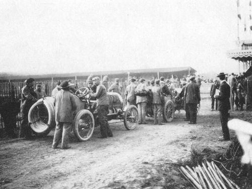 1906 gp de l'acf, le mans - hubert le blon (hotchkiss hh) dnf 4 laps wheel 2
