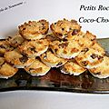 Petits rochers coco-chocolat - ronde interblog #25
